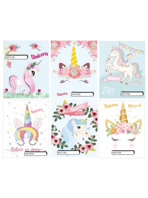 Set 6 separadores Nº3 UNICORN 01604457